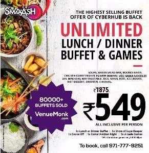 Image of Unlimited Buffet with Games at Smaaash